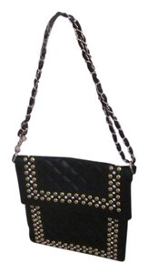 Cache Studded Faux Leather Cross Body Bag