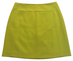 Ann Taylor LOFT Mini Skirt Yellow