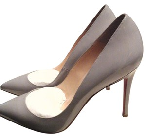 Christian Louboutin Brand New Under $450 Never Worn Color Patent Leather Gray Pumps