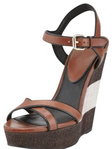Burberry Dark umber brown Wedges