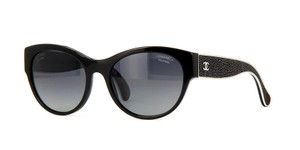 Chanel NEW CHANEL Stingray Leather Polarized Sunglasses CH5273Q Black