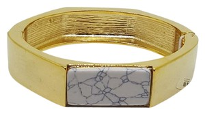 Banana Republic NEW Banana Republic Hinged Bangle with White Enamel Stone Inlay