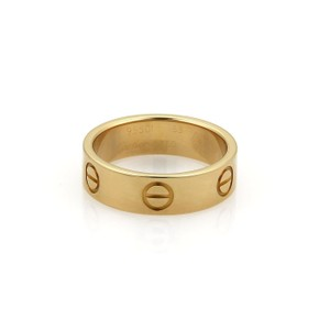 Cartier Love 18k Yellow Gold 5.5mm Band Ring Size EU 53-US 6.25