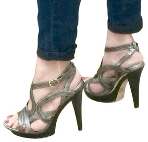 Bakers Metallic gray Platforms