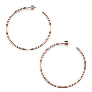 Michael Kors Michael Kors rose gold statement hoop earrings