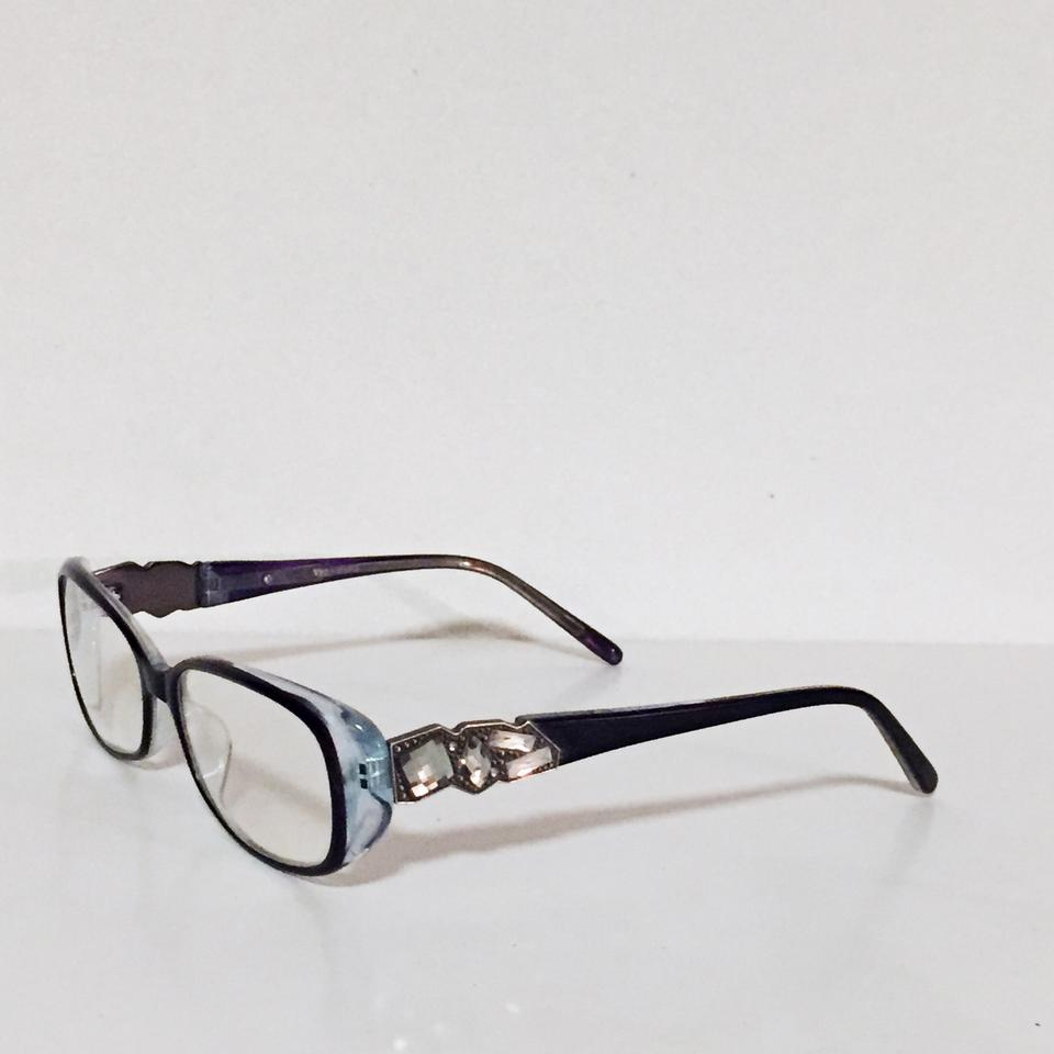 7d997497e6 Vera Wang Vera wang rhinestone bejeweled crystal abstract purple eyeglass  lens frames Image 9. 12345678910