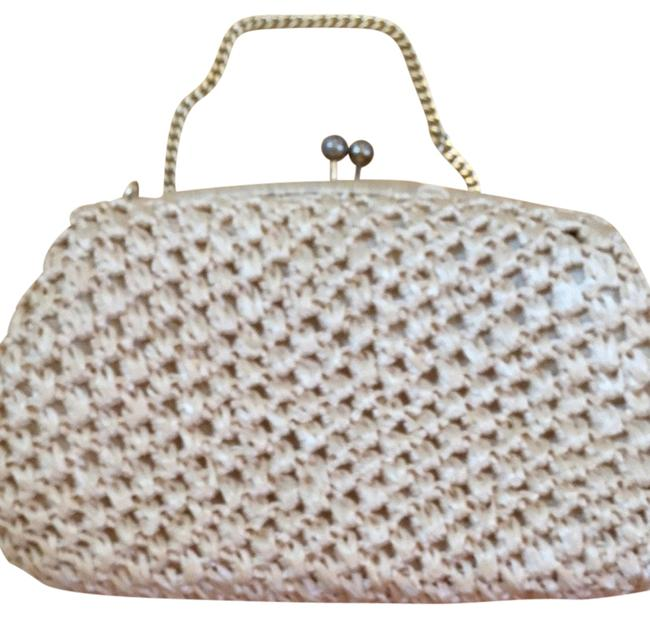 Creamy Yellow Gold Raffia Clutch Creamy Yellow Gold Raffia Clutch Image 1
