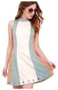 Other short dress Ivory Beige Blue on Tradesy