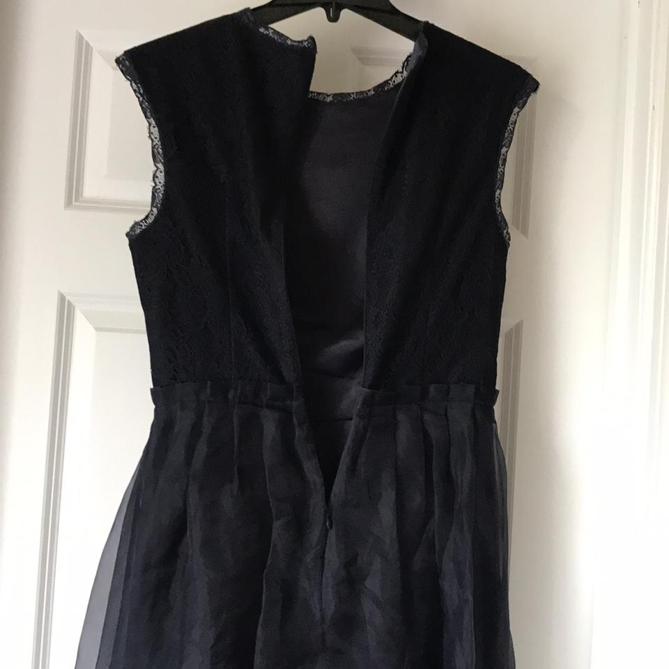8de0f550a Ted Baker Navy Lace Knee Length Night Out Dress Size 4 (S) - Tradesy