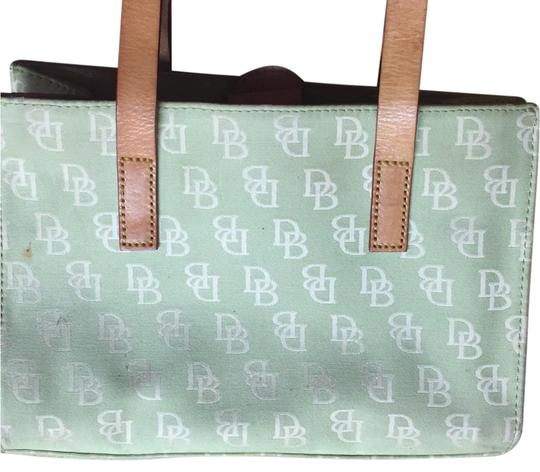 Dooney Bourke And Lime Cloth Tote
