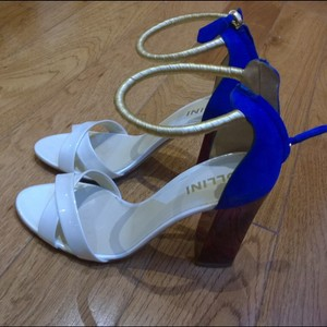 Pollini white blue gold Formal
