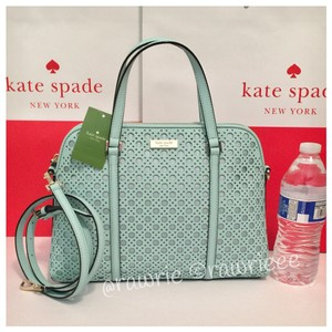 Kate Spade Saffiano Leather Mint Convertible Strap Zip Top Cross Body Bag