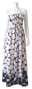 Purple, white Maxi Dress by J.Crew