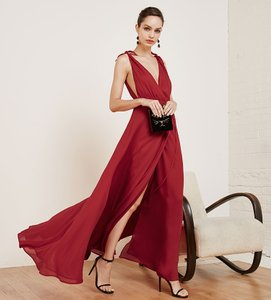 Reformation Poinsetta Red Viscose. Romanica Formal Bridesmaid/Mob Dress Size 0 (XS)