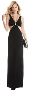 Black Maxi Dress by Guess By Marciano Maxi Gold Chain Open V Neck Cutout