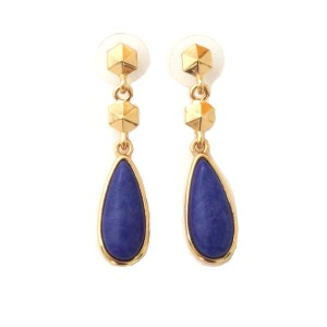 Wyatt Blue and Gold Teardrop Earring