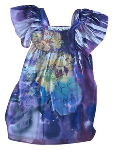 One World short dress Purple motif on Tradesy