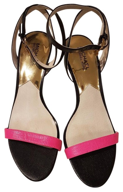 Item - Navy Simone Strappy Stilleto Heel and Pink Sandals Size US 9 Regular (M, B)