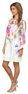 Ted Baker short dress multi, floral, pink, yellow, purple, pale mint Tunic Colored Summer Classy on Tradesy