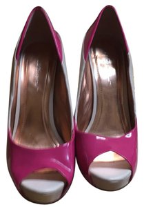 BCBGeneration pink and cream Platforms