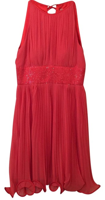 Preload https://img-static.tradesy.com/item/21232758/js-boutique-coral-pleated-mid-length-cocktail-dress-size-4-s-0-1-650-650.jpg