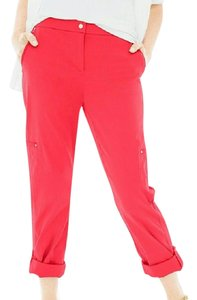 Chico's Luxe Twill Utility Crop Capris Annatto Orange
