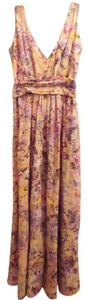 Peach, yellow, pink, blue, green + Maxi Dress by Adolfo Dominguez Print Cotton Maxi Sleeveless 40