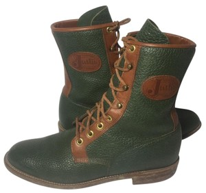 Justin Boots Women Size 7.5 Lace Up Roper Green Boots