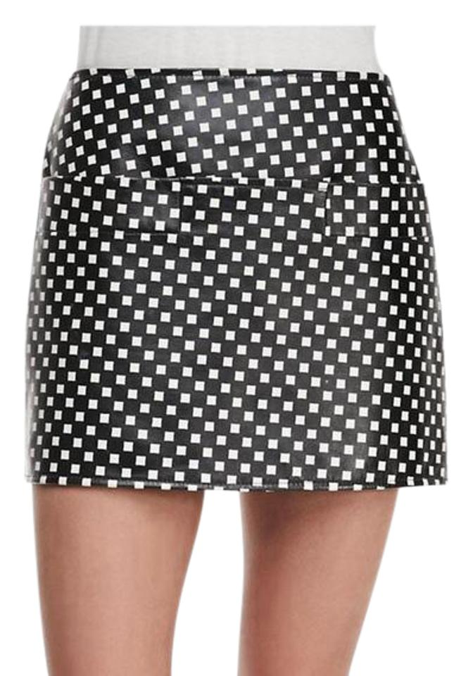 f14101c6d Marc by Marc Jacobs New Black Blockprint Leather Skirt Size 4 (S, 27 ...
