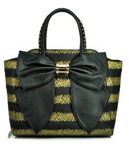 Betsey Johnson Satchel in Gold