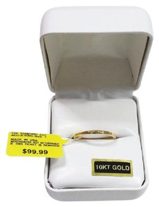 Other New Solid 10K Yellow Gold Diamond-Cut 10KT Gold Hollow Stack Ring Band