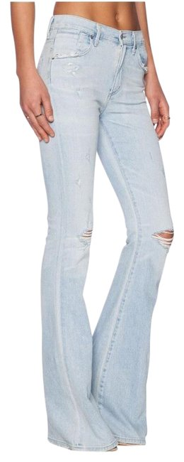 Item - Washed Out Distressed Fleetwood Flare Leg Jeans Size 27 (4, S)