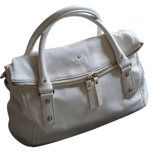 Kate Spade Convertible Leather White Handbag Purse Satchel in Ivory