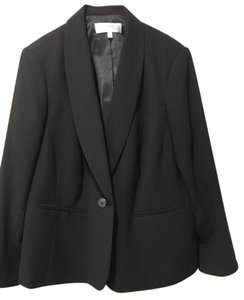 Jones New York 16W Suit Jacket - Black with Thin Gold Pinstripes