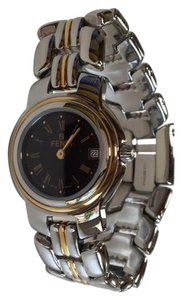 Fendi Silver and Gold Orologi Watch