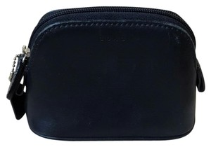 Coach Vintage AUTH Coach Small Black Leather Cosmetic Bag