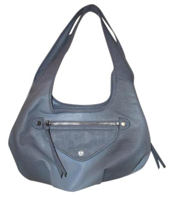 Item - Pebbled Silver Accents Periwinkle Man Made Materials Hobo Bag