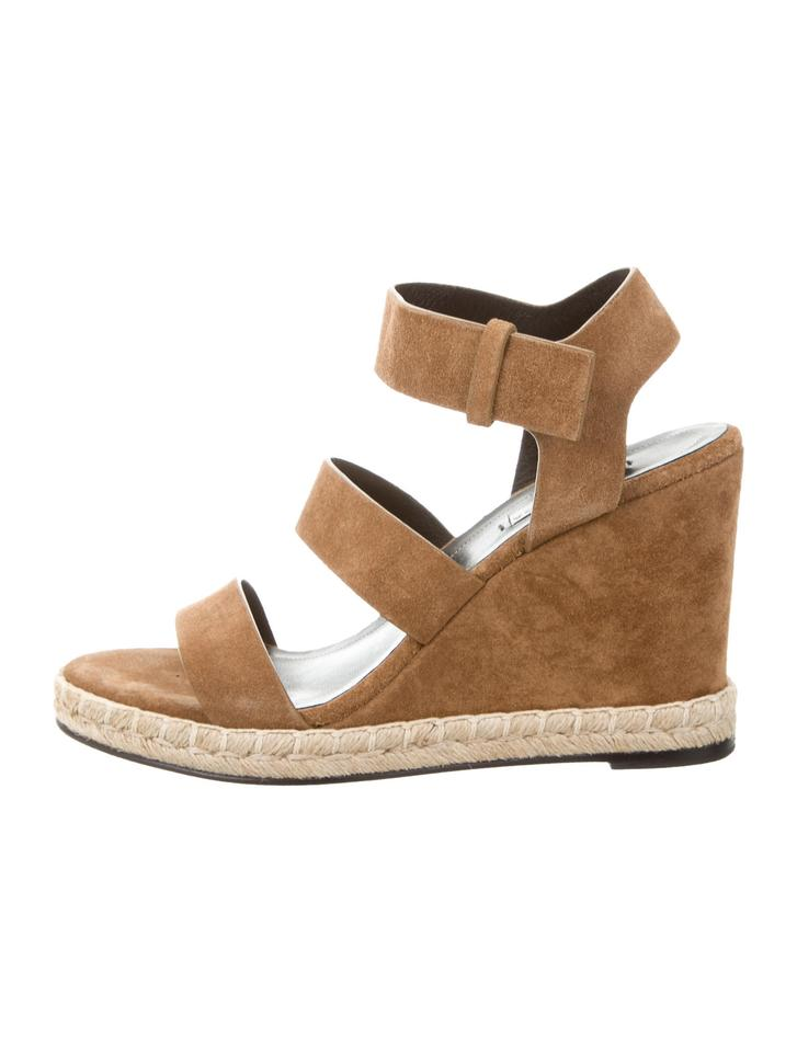 2d1029d888dc Balenciaga Camel Suede Tan Espadrille Wedges Sandals Size US 8 - Tradesy