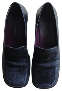 Nine West Pony Hair Loafer Loafer Black Flats