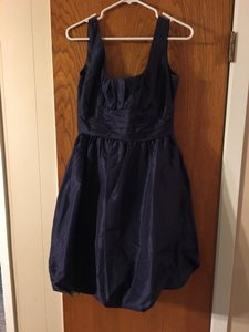Donna Ricco Navy Navy Bubble Dress Dress