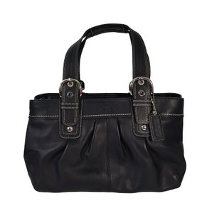 Coach Pleated Soho Leather Euc Tote in Black