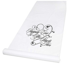 Wedding Happily Ever After Aisle Runner Durable White Aisle Runner