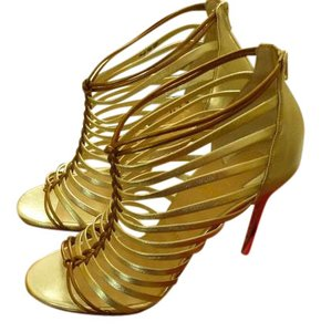 Christian Louboutin Italian Metallic Gold Pumps