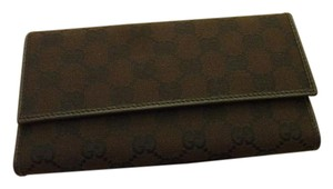 Gucci NWT $495 Gucci 257303 Chocolate Brown Leather GG Guccissima Wallet