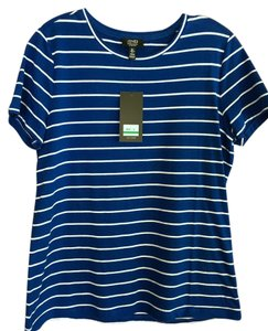 Jones New York T Shirt Blue & White
