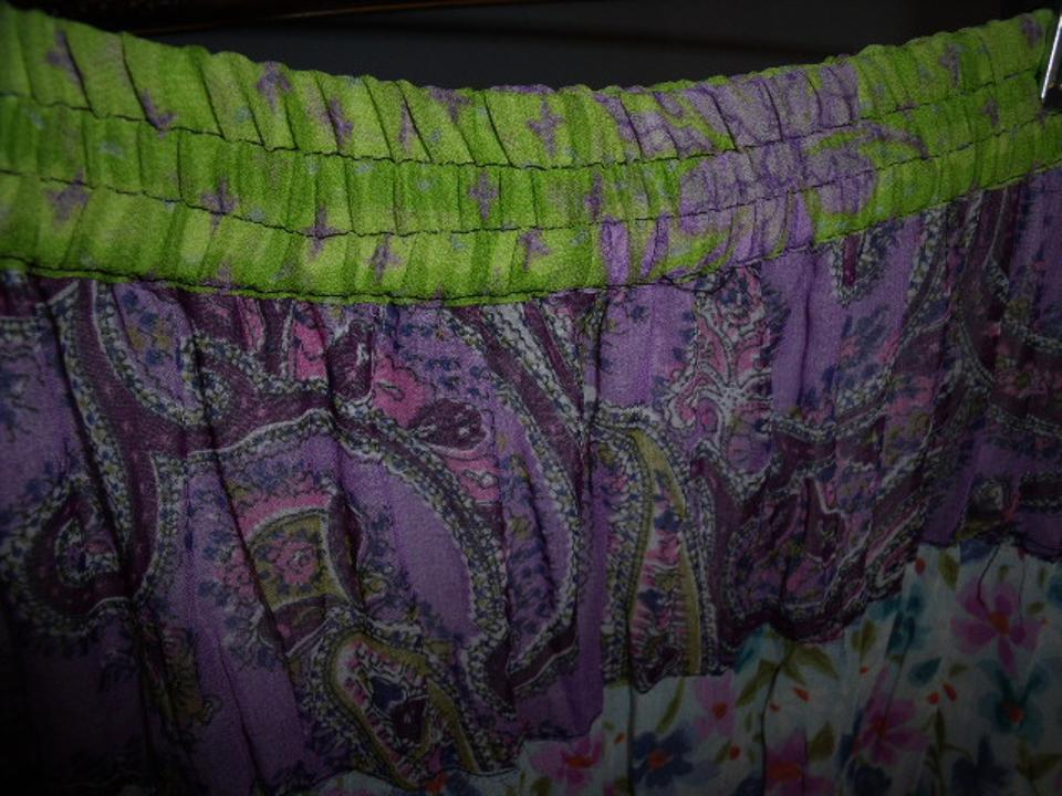 2b84b8926b Sacred Threads Patchwork Hippie Gypsy Tiered Spring Maxi Skirt Multi-Color  Image 10. 1234567891011