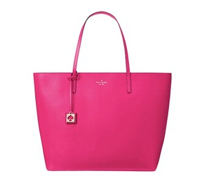 Kate Spade Leather Large Smooth Leather Tote in Sweetheart Pink