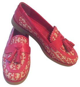 Tory Burch Red and Cream Flats