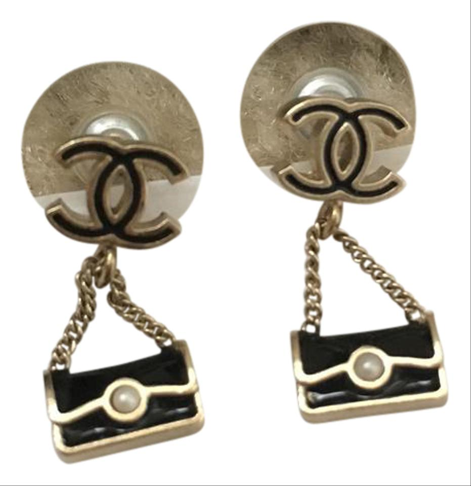chanel bnew classic bag earrings tradesy