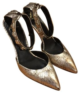 Brian Atwood Gold/Silver Pumps